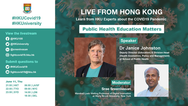 Live from HK with Dr Janice Johnston Public Health Education Matters