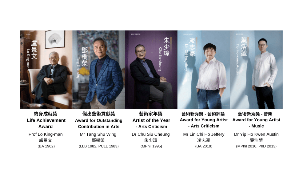 Five outstanding HKU Alumni recognised in the 15th Hong Kong Arts Development Awards Presentation Ceremony