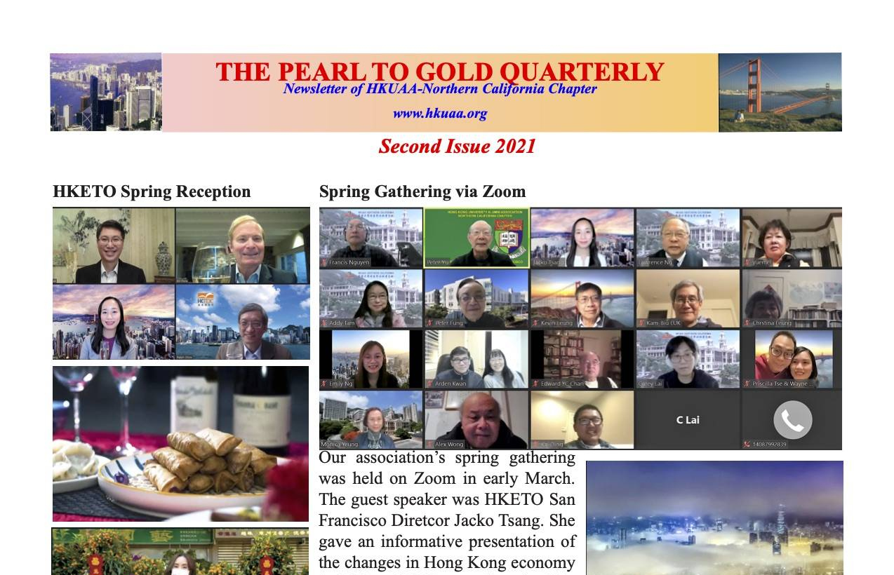 HKUAA – Northern California Chapter Newsletter | 2nd Issue 2021